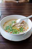 Rice Porridge With Pork And Vegetable
