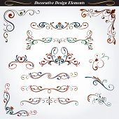Collection of decorative design element 10