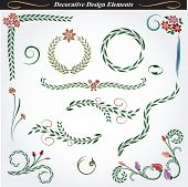 Collection of decorative design elements 4