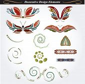 Collection of decorative design elements 12