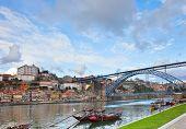bishops palace and Dom Luis bridge,  Porto