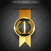 original golden vector badge label