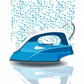 Illustration steam iron