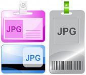 Jpg. Id cards. Raster illustration.