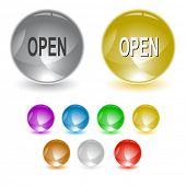Open. Raster interface element. Vector version is in portfolio.