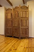 Cloudy Home - Wooden Openwork Screen