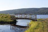 A small bridge crosses a minor creek.