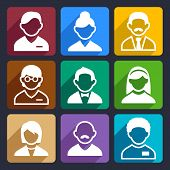 pic of daddy  - Family and People flat icons set for Web and Mobile Applications - JPG