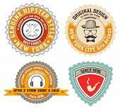 Set of Vintage Premium Quality labels. Retro design elements.