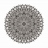 circular lace pattern