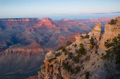 Grand Canyon Np At Sunset