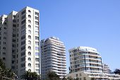 Coastal Cityscape Of Residential Apartment Complexes