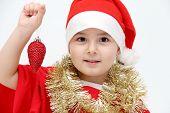 Little Child With Santa Hat