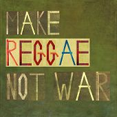 picture of reggae  - Earthy textured background image and design element depicting the words  - JPG