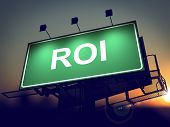 ROI - Billboard on the Sunrise Background.