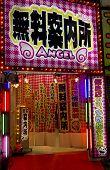 Entrance To A Strip Show, Kabukicho, Tokyo, Japan.