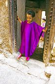 FES, MAROCCO - October 15 2013 : Kid beautifull dressed up on Eid al-Adha. The festival is celebrate