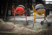 cement mixer in an old factory