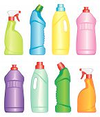 Bottles of cleaning products