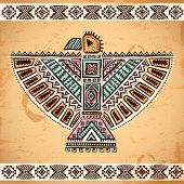 picture of tribal  - Tribal vintage native American set of symbols - JPG