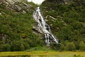 Beautiful Stream And Waterfall In The Highlands Of Scotland