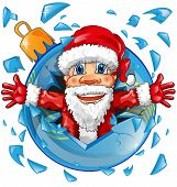 Santa Claus With Christmas Ball