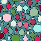 Seamless Cartoon Baubles Background