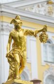 foto of perseus  - Statue of Perseus with the head of the gorgon Medusa Petergof Saint Petersburg Russia - JPG