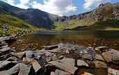 Mountain lake in Snowdonia national park, Wales