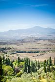 An image of the beautiful landscape near Pienza Italy