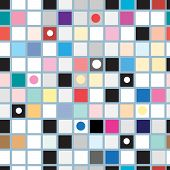 Abstract Geometric Pattern Of Squares