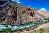 Wild water of Kekemeren river in Tien Shan