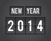 Retro New Year 2014 analog countdown counter