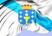 Flag Of Galicia, Spain.