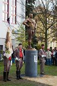 LITOVEL, CZECH REPUBLIC - NOVEMBER 8, 2013 - Unveiling the statue of Czech wrestler Gustav Fri�ten