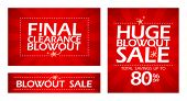 Final clearance blowout banners collection.