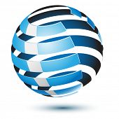 Illustration ball isolated on a white background. Design elements. Vector.