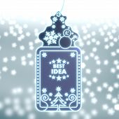 Magic Christmas Label With Best Idea Sign