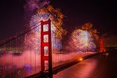 pic of gate  - San Francisco Golden Gate Bridge 75th anniversary fireworks - JPG