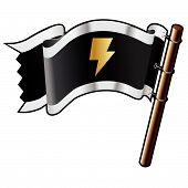 Lightning Bolt icono de bandera pirata
