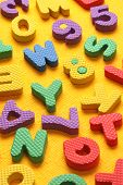 foto of kiddie  - Kiddies style Colored Alphabet and number blocks - JPG