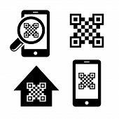 QR code icons set