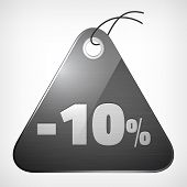 Metal Brushed Glossy Label Ten Percent Saleoff
