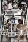 Dirty Cookware In Home Dishwasher