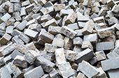 Pile Of Cobblestone Pavers