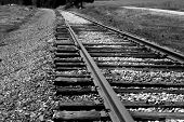 picture of train track  - train tracks - JPG