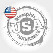 picture of memphis tennessee  - stamp Memphis - JPG