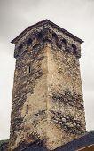 Tower in Mestia, Svaneti, Georgia