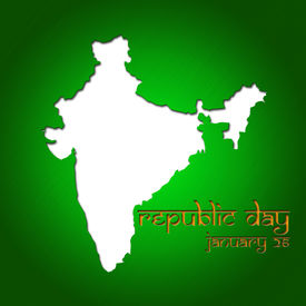 foto of asoka  - Graphic design Republic Day in India related in shape of country silhouette - JPG