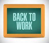 Back To Work Message On Board Illustration